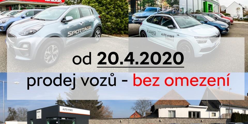 prodej vozů otevřen1200x480
